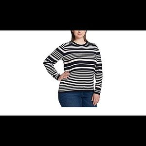 Tommy Hilfiger Plus Snowmass Striped Sweater